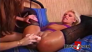 BRUCE SEVEN - Bionca and Debi Diamond Play With Massive Toys