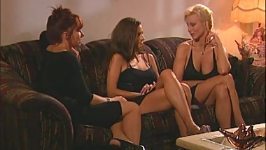T.J. Hart and her busty girlfriends retro porn