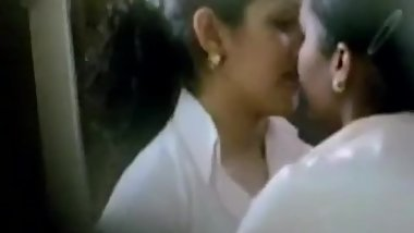 indian desi lesbians making out romantic kissing in office caught on camera