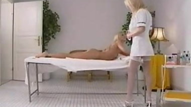 Awesome hot lesbian massage and anal fingering