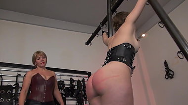 Lesbian caning and humiliation