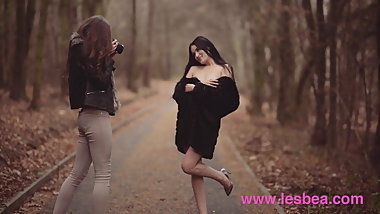 Lesbea Czech babes Stacy Cruz and Elouisa share lesbian teen