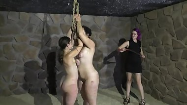 Lezdom - Mistress and 2 slaves