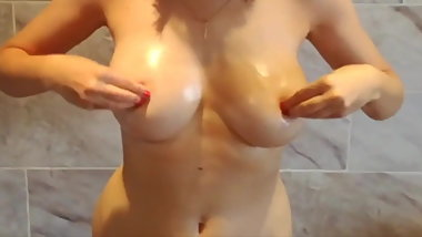 Oiled Tit Play and Lesbian Dirty Talk.