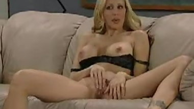 Blonde Teacher gives a masturbation lesson to her students