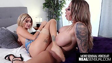 Best Hardcore Lesbian with Stunning Blondes Karma Rx And Emma Hix