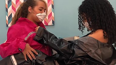 Corona virus patients scissoring her girlfriend - Lesbians