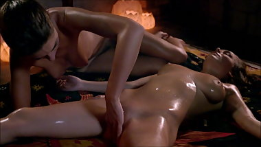 Charlotta and Adriana - female tantric temple massage