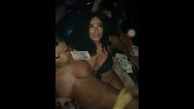 Cardi B in strip stease club