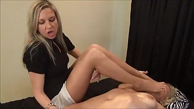 Oily orgasm massage