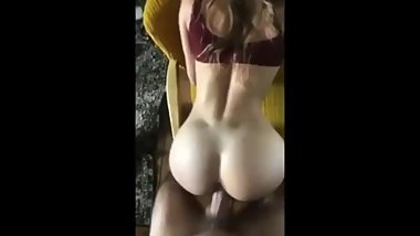 Hot girl ride doggy with her perfect ass