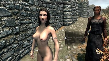 Skyrim #2 - Angel in steel doing a threesome with Adrienne