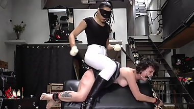Lesbian Mistress - Hard Pony Punishment and Humiliation