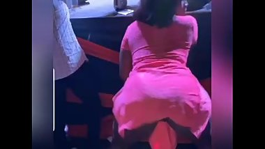 Ebony Jamaican Lesbian phat pussy upskirt in party HD