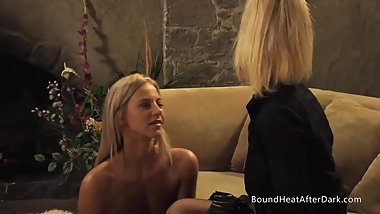The Submissive: Lesbian Slave With Collar On Her Neck