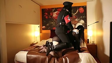 Nazi Female officer have a long riding on her ponygirl for a longtime