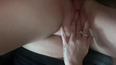 Me and GF make wife squirt MFF threesome