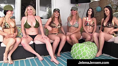 Penthouse Pet Jelena Jensen Has Smoking Hot 6 Girl Orgy!