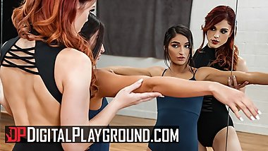 Digital Playground - Lesbian Ballerinas eat pussy after workout