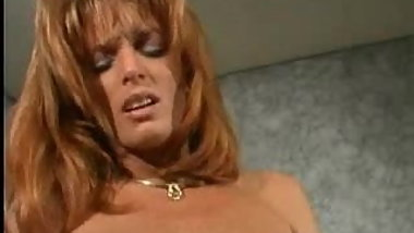 Brunette lesbian plays with big clit redhead's labia pt3