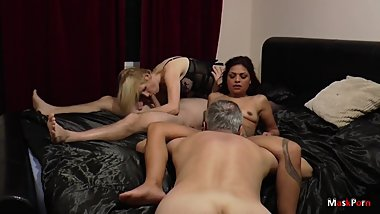 Real Amateur Wife Sharing Hot Group Sex - Long version