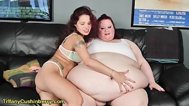 Skinny Ginary Loves Tiffany's Bigger Belly & It Turns Her On