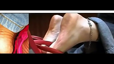 CLIPS4Sale Preview Dirty Feet in Pink Flip Flops official Added Border
