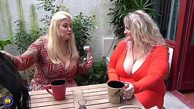 Big busty mothers lick and fuck each other