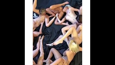 Montreal Lesbian Orgy - 8 French Girls Eating Eachother Out