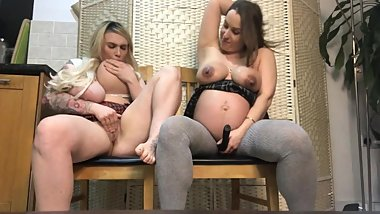 Big Tit Pregnant and Milky Friend Play With each other