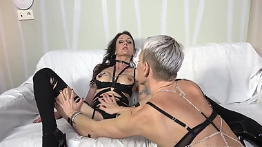Two lesbian sluts have fun in BDSM games
